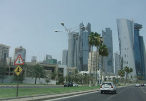 New buildings in Doha Qatar